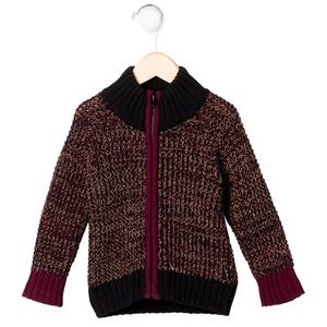 LITTLE MARC JACOBS Boys' Chunky Knit Zip Cardigan
